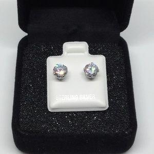 Jewelry - STERLING SILVER .925 CUBIC ZIRCONIA STUD EARRINGS